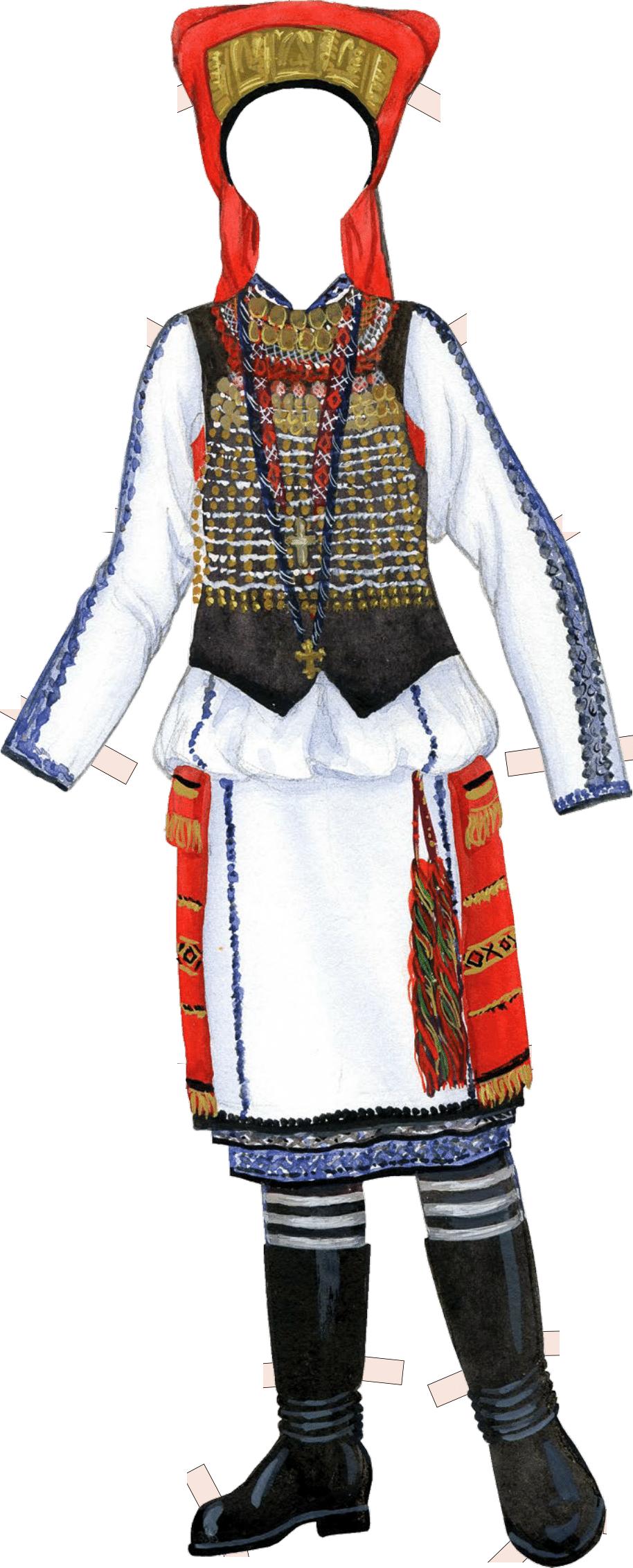Праздничный костюм невесты-мокшанки. Начало ХХ в. Тамбовская губерния, Спасский уезд.