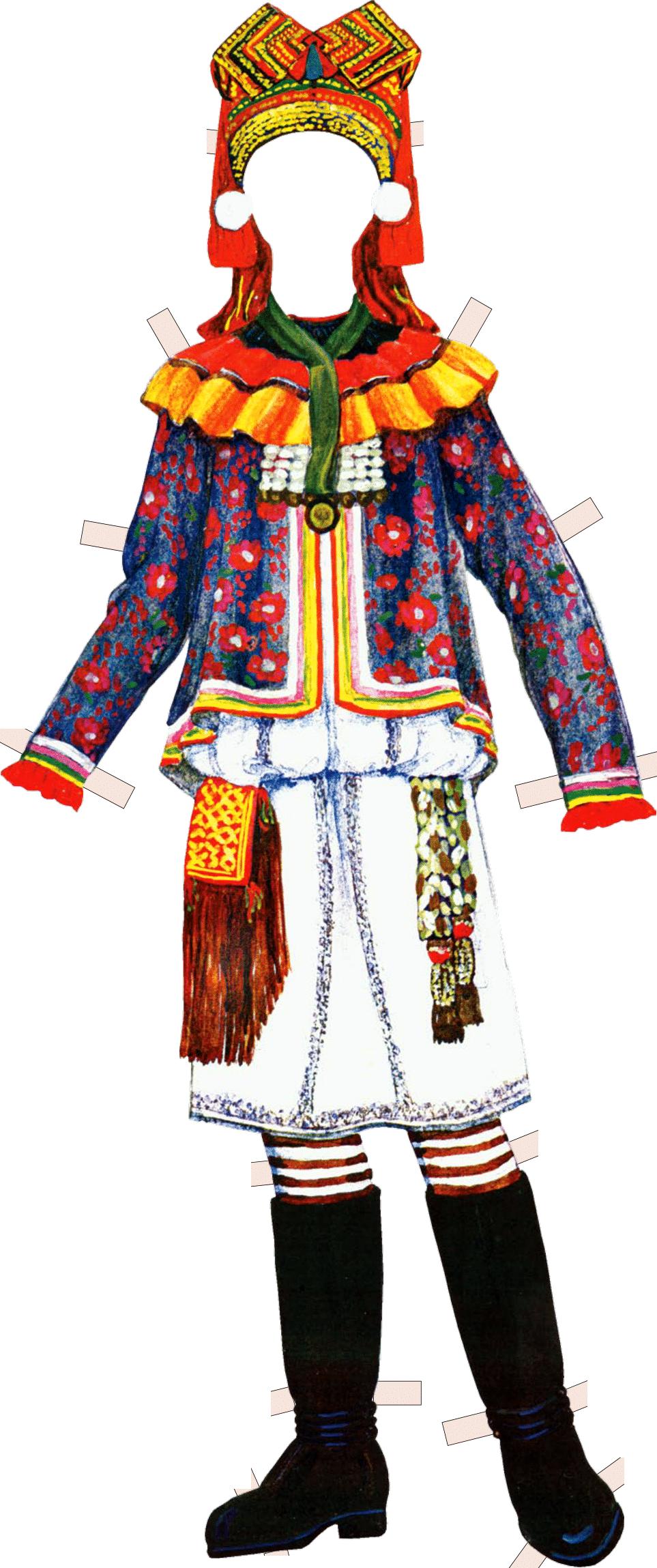 Костюм женщины-мокшанки. Конец XIX в. Пензенская губерния, Чембарский уезд.